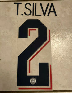 Flocage Nameset T.SILVA #2 PSG 2019-2020 Third. Champions League