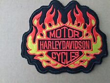 HARLEY DAVIDSON MOTORCYCLES FLAME SEW OR STICK ON  PATCH