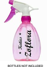 Zoflora, Mrs Hinch personalised vinyl name stickers 4 spray water drinks bottle