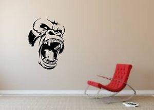 Wall Sticker Mural Decal Vinyl Decor King Kong Face Cinema Movie Gorilla 80119984835 Ebay