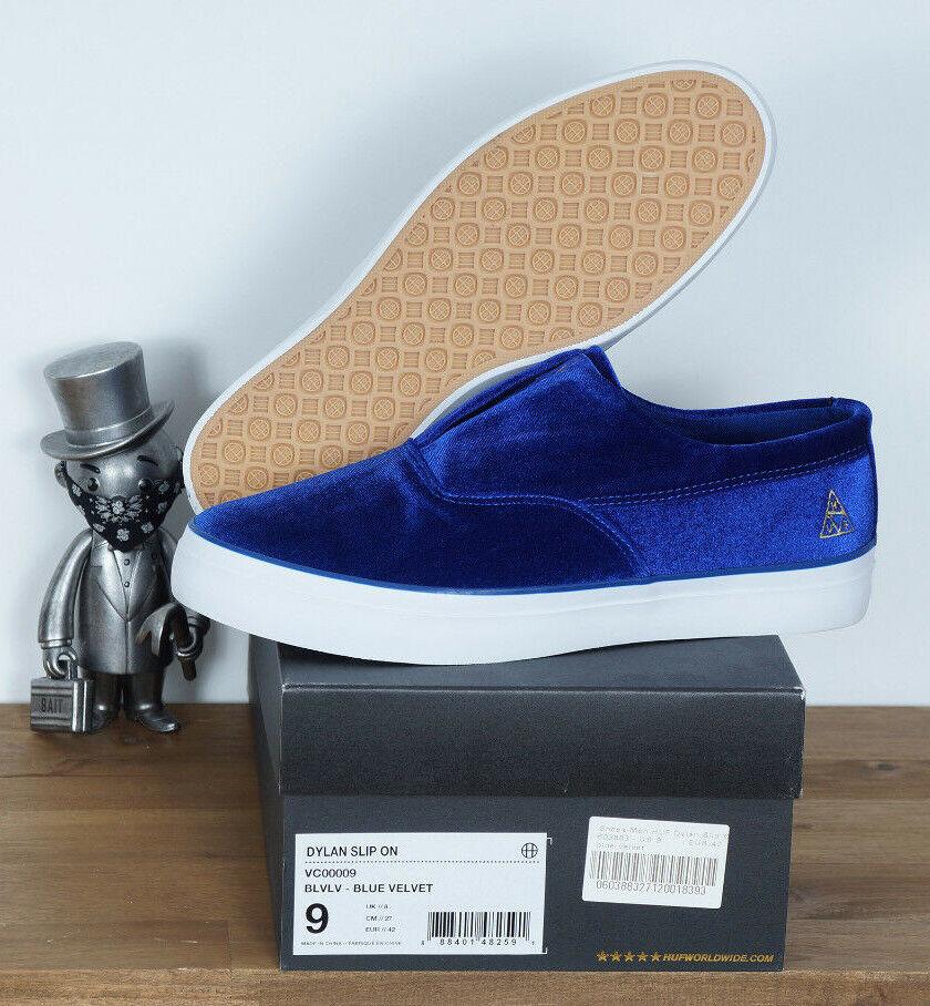 Huf Footwear Skate Schuhe schuhe Dylan Rieder Slip On Blau Velvet 8,5 41    |  | Komfort  | Öffnen Sie das Interesse und die Innovation Ihres Kindes, aber auch die Unschuld von Kindern, kindlich, glücklich