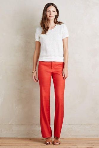 Anthropologie Benton Trousers Red Pants by Elevenses size 8