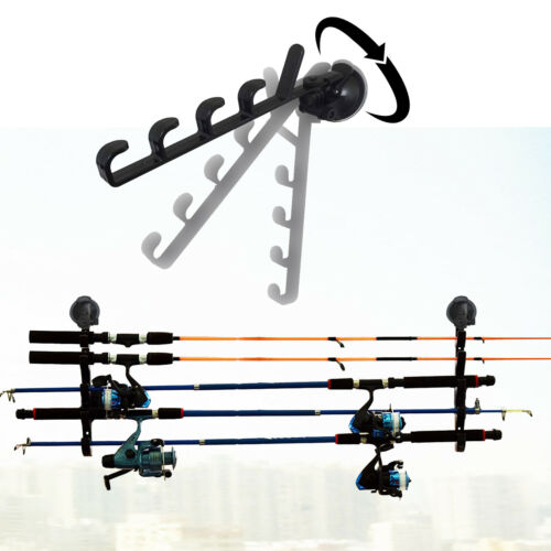 Strong Suction Cup Fishing Rod Racks Fishing Rod Holders for Car//Truck//SUV 2//PK