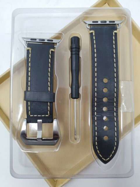 Apple Watch Band Cowhide Genuine Leather Replacement Band for Apple Watch 42mm