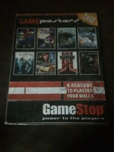 Rare-GameStop-8-Video-Game-Posters-Super-Mario-Galaxy-Assassins-Creed
