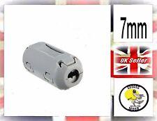 Ferrite Core 7mm Inner Diameter Grey Cable Clip  UK SELLER