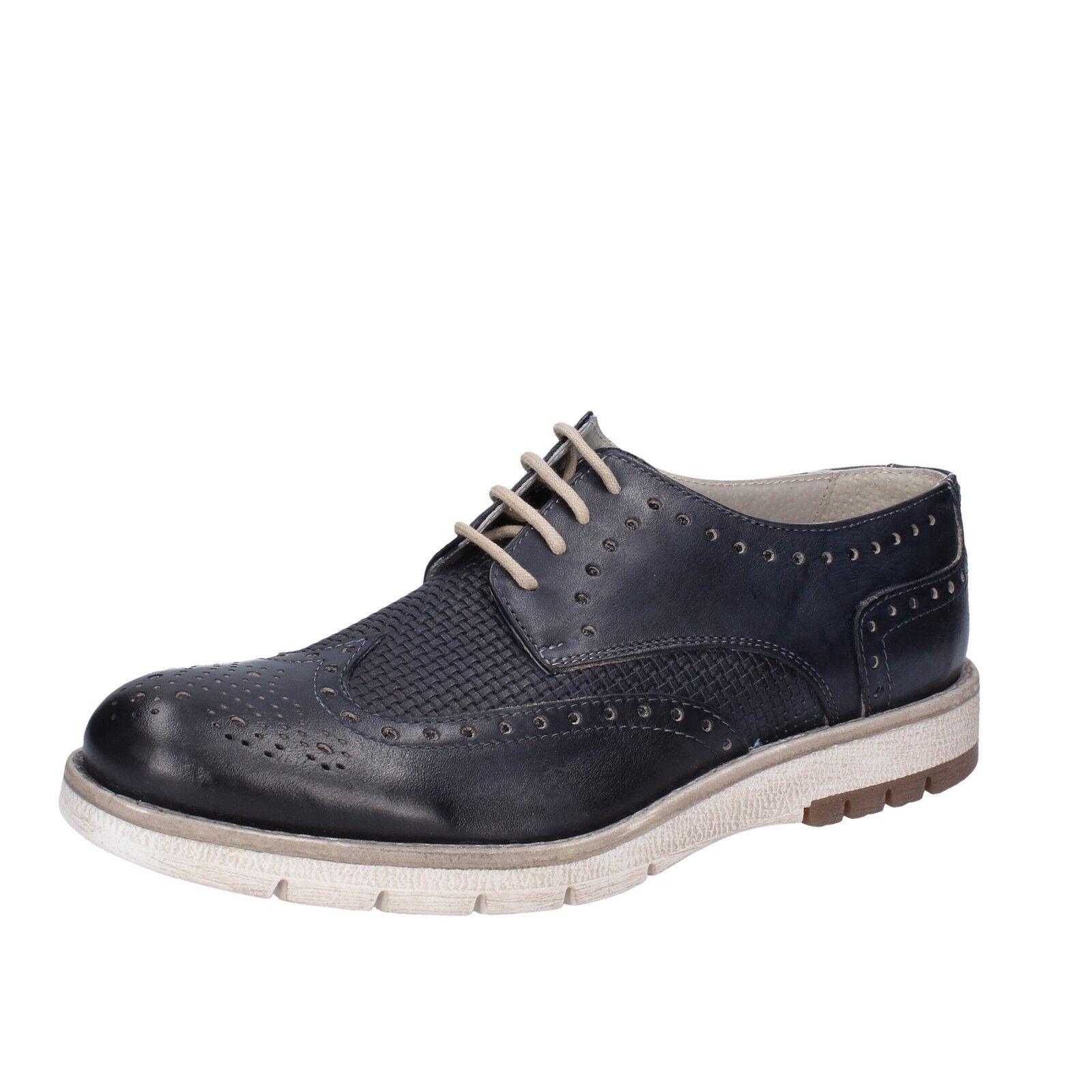 Herren schuhe OSSIANI 40 EU elegante blau leder BT868-40    |  | Modern Und Elegant In Der Mode  | Zuverlässiger Ruf