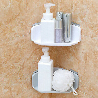Suction Corner Rack Shelf Organizer Caddy Storage Bathroom Shower Wall Basket US