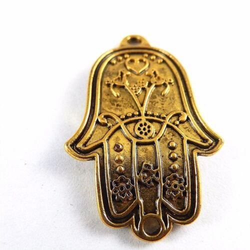 30X Antike Gold Legierung Hamsa Hand Form Zubehör Anhänger Charme Schmuck 51033