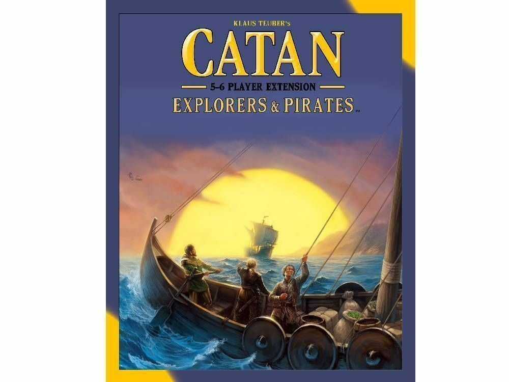 NY CATAN 5th Ed Explorers &Pirates Extension 5- 6 Spelare –Family Board spel
