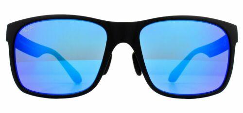 Maui Jim Arenas Rojo Gafas de Sol Negro Mate B432-2M Blue Hawaii