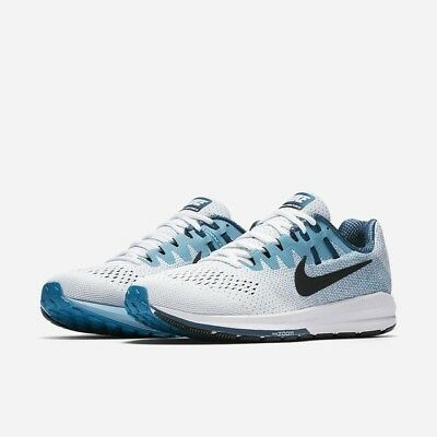 save off 33299 0977c Nike Air Zoom Structure 20 White/Black/Blustery Men's Shoes ...