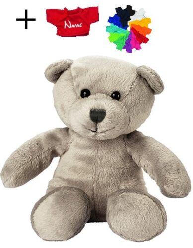 Plüsch Bär Teddy mit//ohne Namens T-Shirt 12,5-19 cm in 9 Varianten Kuscheltier