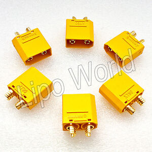 XT90-STECKER-MALE-ORIGINAL-AMASS-Qualitaet-Modellbau-Adapter-Kabel-Lipo-Akku