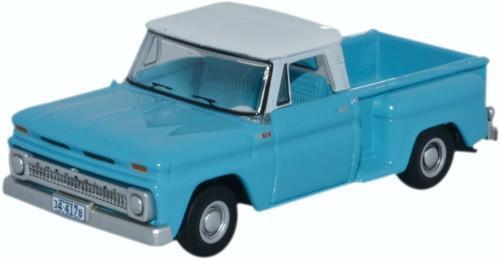 Oxford Diecast 87CP65001 Chevrolet Stepside Pick Up 1965 Light Blue//White 1:87