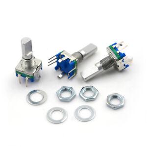 3Pcs/set 6mm D Shaft 18 Position 360 Degree Rotary Encoder w Push Button Fad. HC 601404050013