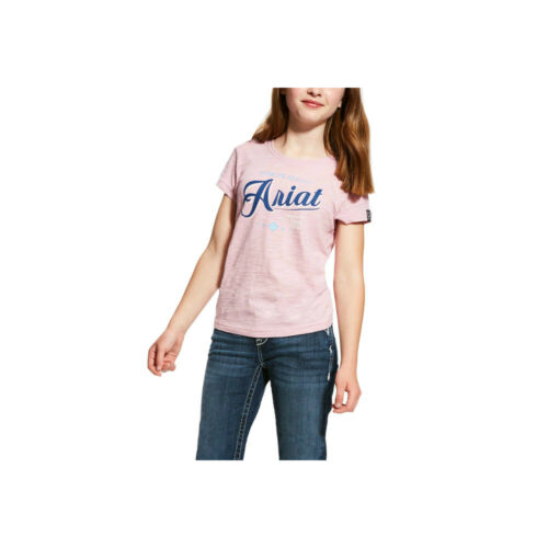 Lilac Pearl or Indigo Fade Ariat Girls/' Logo Tee Different Sizes