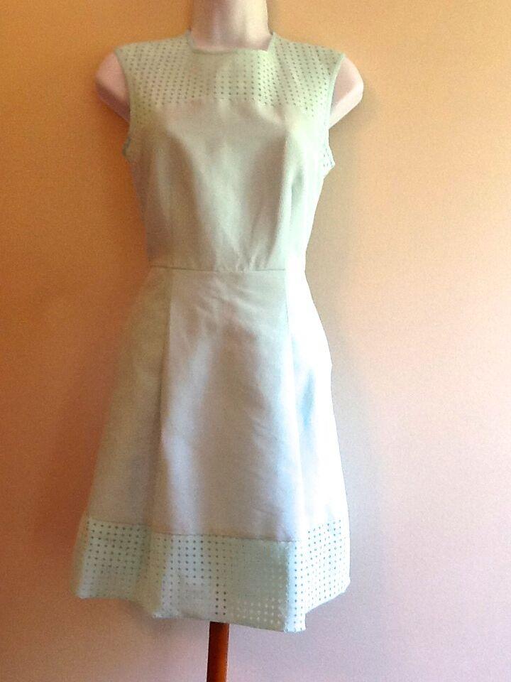 J CREW Perforated A-Line Dress Size 8 VSK  B9821