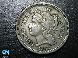 1865 3 Cent Nickel Piece  --  MAKE US AN OFFER!  #K0868