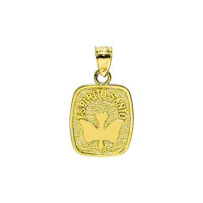 17mm x 15mm 14k Yellow Gold Small//Mini Baptism Picture Charm Pendant
