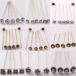 Wholesale-20-100Pcs-Golden-Silver-Plated-Alloy-Head-Ball-Pins-Jewelry-Findings