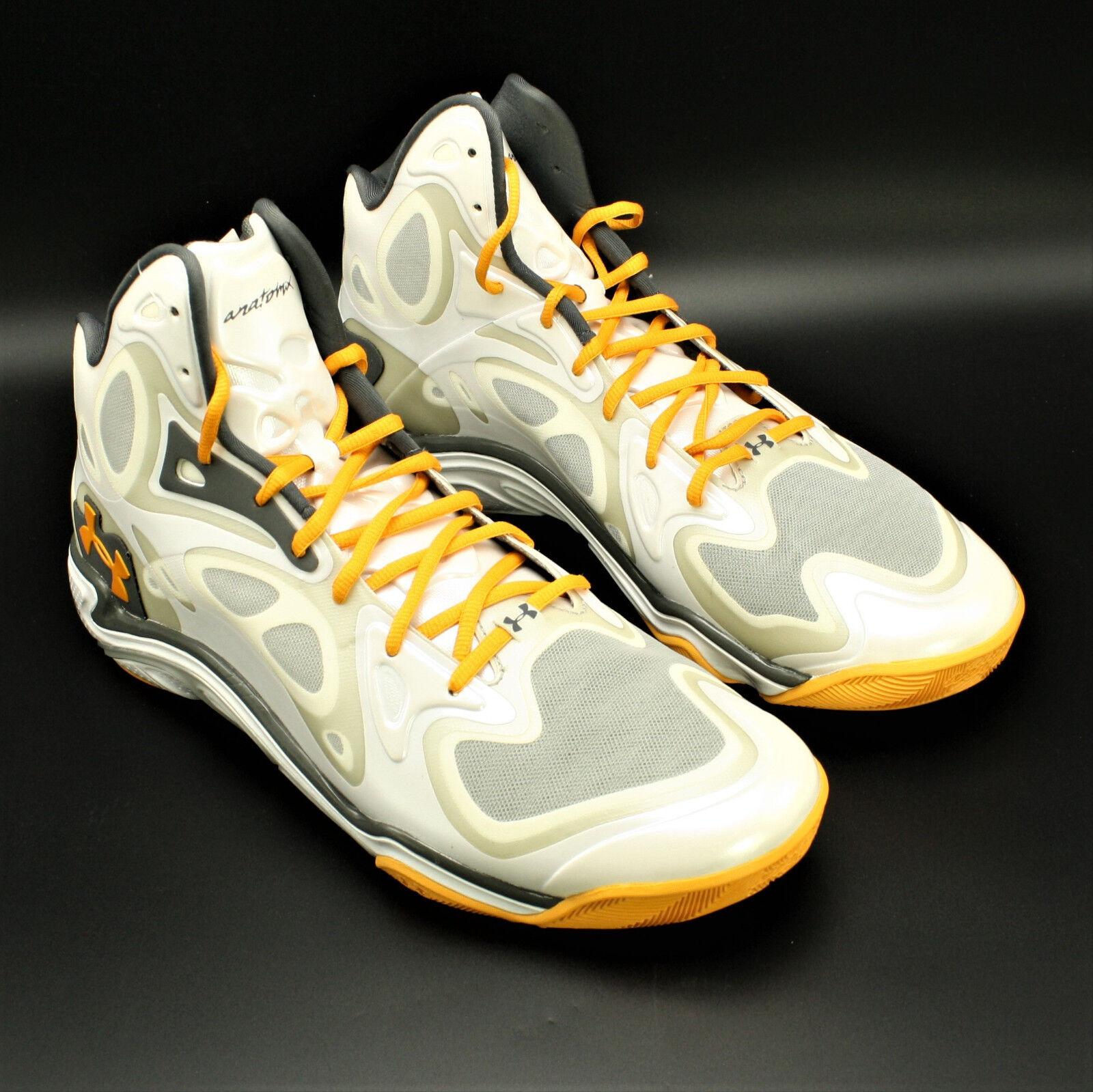 Under Armour Micro G Anatomix Spawn Basketball Schuhe Größe 14 1248426-120