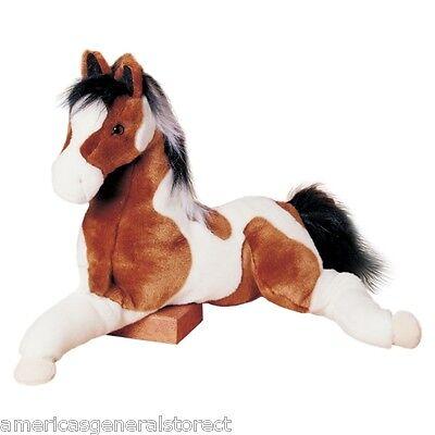 """NATCHES Douglas plush stuffed INDIAN PAINT HORSE 26"""" long animal NWT large big"""