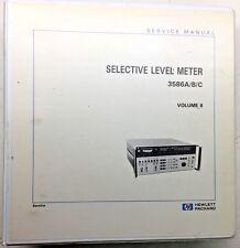 Hp 3586abc Selective Level Meter Service Manual Volume 2 Pn 03586 90002