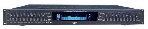 NEW Pyle PPEQ100 19/'/' Rack Mount Dual 10 Band 4 Input Stereo Spectrum Equalizer