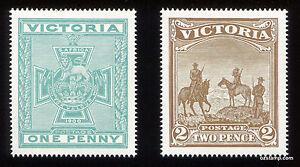 1900-VICTORIA-Boer-War-Patriotic-Fund-Set-MUH-See-Description-Stamps-Australia