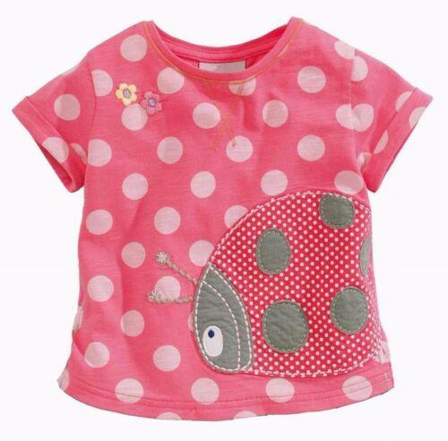 New Cute Girls Lady Bug T-Shirt//Tee Size 2,4