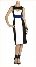 BCBG MAXAZRIA ANTONELLA OFF WHITE COMBO COLOR BLOCK DRESS 0 NWT $248 -RackR/60