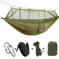 New Double Outdoor Person Travel Camping Hanging Hammock Bed Wi Mosquito Net Set