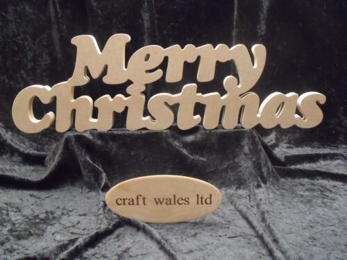 Merry Christmas MDF Sign Plaque Wooden Letters Xmas Freestanding Santa Words