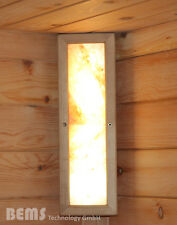 LED Natursalz Salzkristallleuchte Beleuchtung Sauna Infrarotkabine Dimmbar