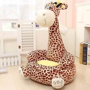 Divano Poltroncina Divanetto Bambini Maxi Peluche Giraffa ...