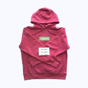 Supreme Box Logo Hoodie FW17 Magenta Size Medium | EBay