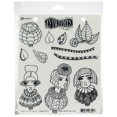 "Dyan Reaveley/'s Dylusions Cling Stamp Collections 8.5/""x7/""-toadstool Town"