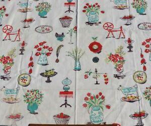 Vintage-c1940s-Cotton-Conversational-Home-Dec-Fabric-L-30-034-X-W-35-034