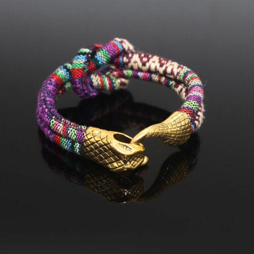 Mode Punk Unisexe Plaqué Or Serpent Bracelet Tressé Chaîne Bracelet Bijoux