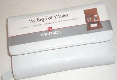 My Big Fat White Out  Checkbook Wallet Mundi