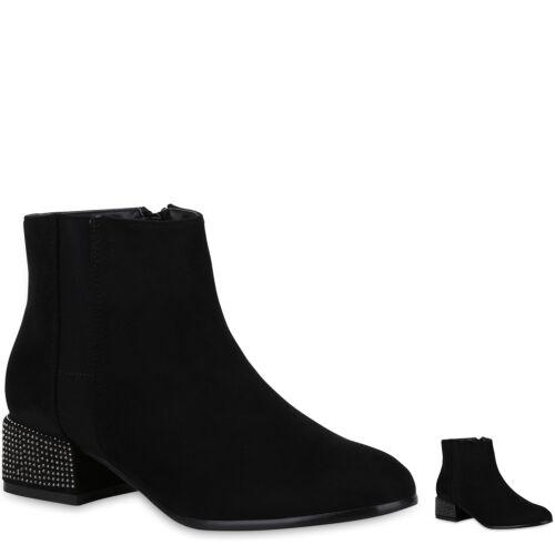 Damen Stiefeletten Schuhe Boots Strass 823844 New Look
