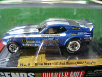 Autoworld Aw Nhra Legends 4 Gear Blue Max Ford Mustang Funny Ho Slot Car