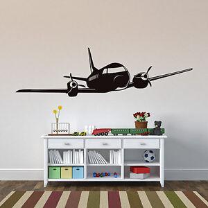 wandtattoo retro flugzeug flieger aufkleber kinderzimmer wall wand ... - Kinderzimmer Flugzeug