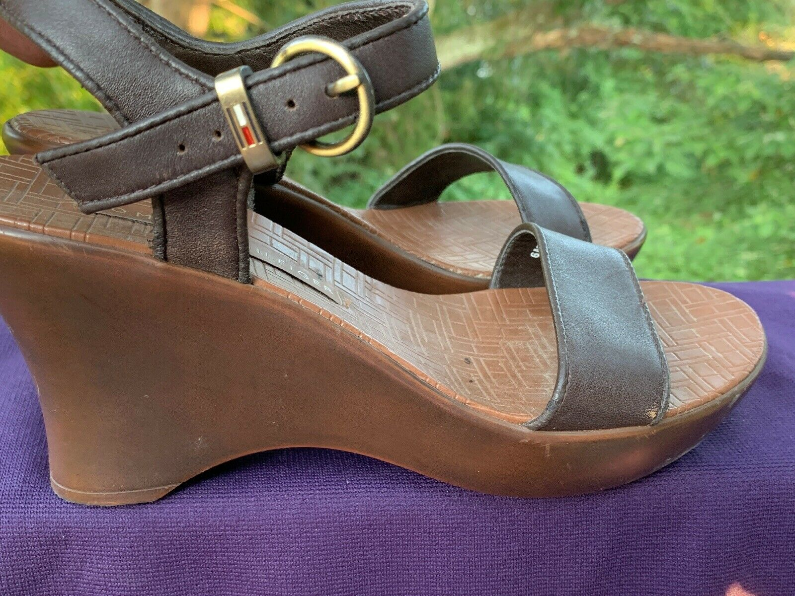 TOMMY HILFIGER Leather Slingbacks Clogs Mules Wed… - image 2
