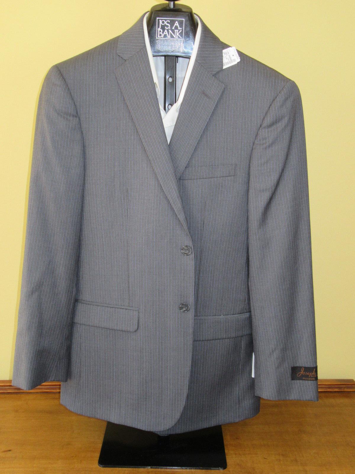 650 New Jos A Bank JOSEPH Grau stripe pattern suit 39 L 33 W Slim fit