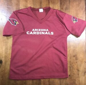 premium selection 5b401 07b1e Details about Arizona Cardinals Youth Medium Football Jersey Shirt Mesh Red  Burgundy NFL