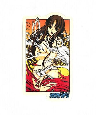 4 INCH ANIME HOOK UPS RARE GIRL JK INDUSTRIES ASUKA /& REI SKATEBOARD STICKER