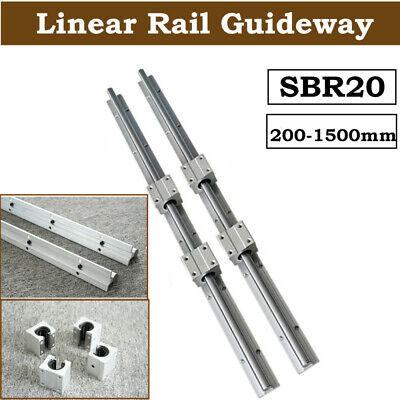 2X TBR16-1200mm 16MM FULLY SUPPORTED LINEAR RAIL 4 TBR16UU Rounter Bearing