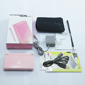 Brand-New-Coral-Pink-Nintendo-DS-Lite-HandHeld-Console-System-gifts